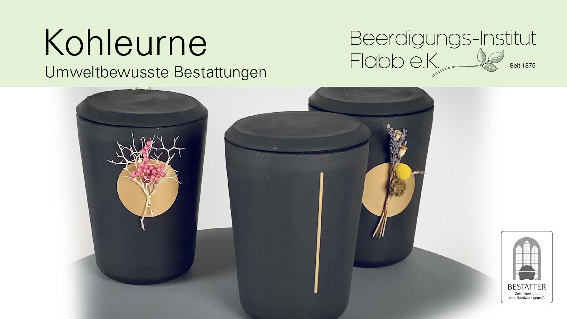 Kohleurne Beerdigungs-Institut Flabb